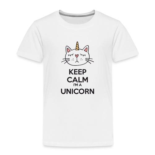 Keep calm cat licorne - Kids' Premium T-Shirt