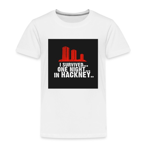 i survived one night in hackney badge - Kids' Premium T-Shirt