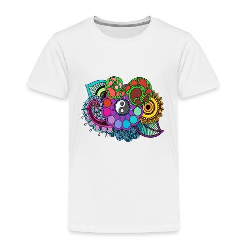 Coloured Nature Mandala - Kids' Premium T-Shirt