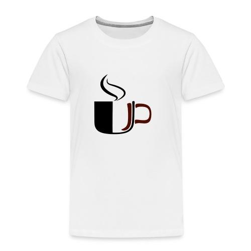 JU Kahvikuppi logo - Lasten premium t-paita