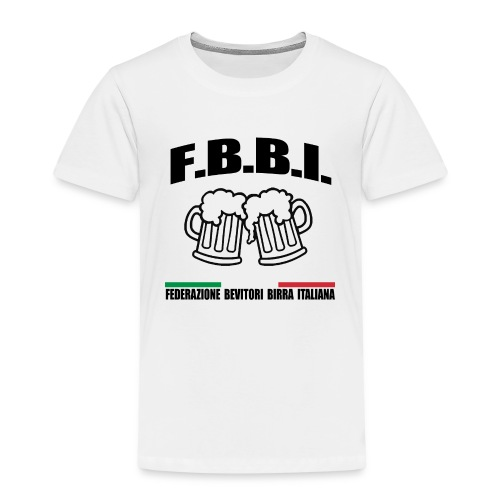 FBBI LOGO NERO - Maglietta Premium per bambini