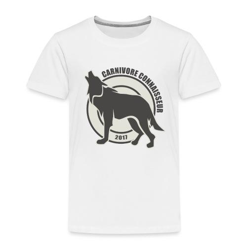 Fleischfresser - Grillshirt - Der mit dem Wolf heu - Kinder Premium T-Shirt