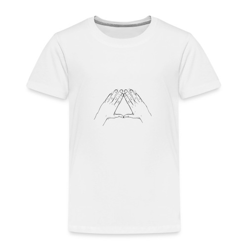 Hand Triangle Hoodie Women - Kinder Premium T-Shirt
