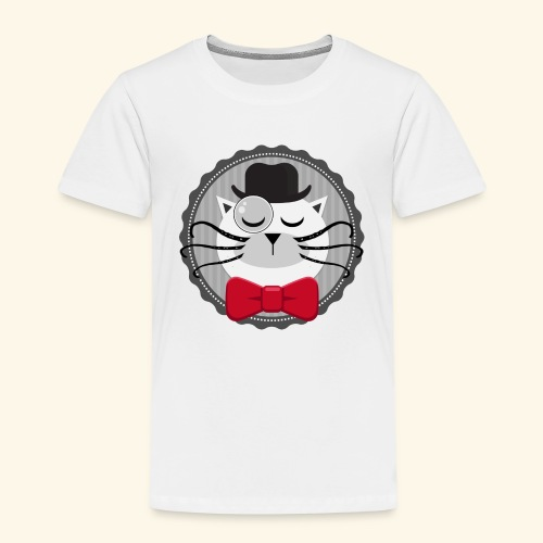 Chat vintage sherlock - T-shirt Premium Enfant