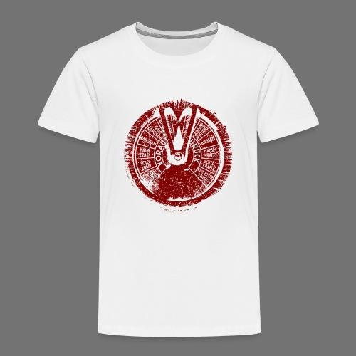 Maschinentelegraph (rød oldstyle) - Børne premium T-shirt