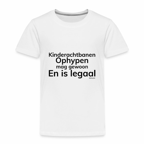 Kinderachtbanen ophypen - Kinderen Premium T-shirt