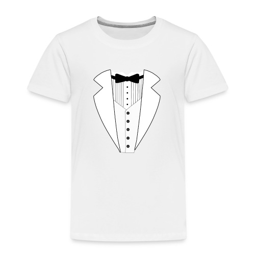 TUXEDO SMOKING ANZUG SHIRT ALL WHITE - Kinder Premium T-Shirt