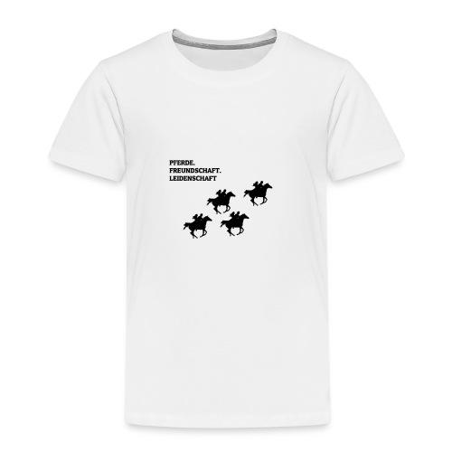 Pferde, Freundschaft & Leidenschaft T-Shirt - Kinder Premium T-Shirt