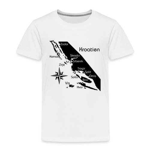 Kroatien Zadar bis Hvar - Kinder Premium T-Shirt