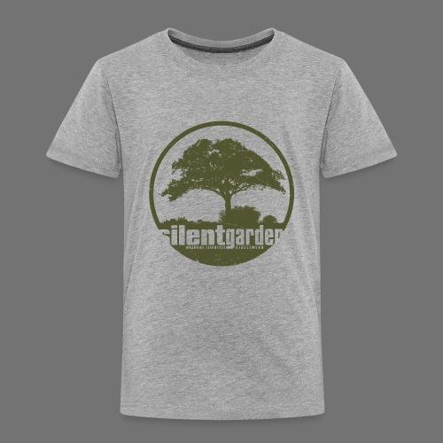 hiljainen puutarha (vihreä oldstyle) - Lasten premium t-paita