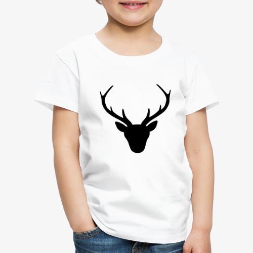 Hirsch Geweih Silhouette Jagd Jäger JGA Geschenk - Kinder Premium T-Shirt