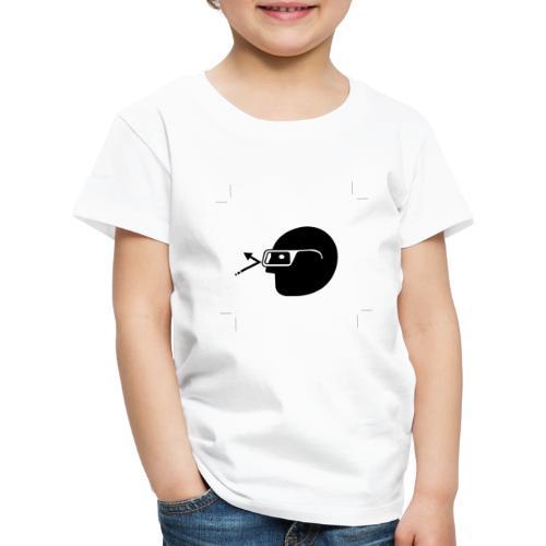 Kopf mit Brille - Kinder Premium T-Shirt