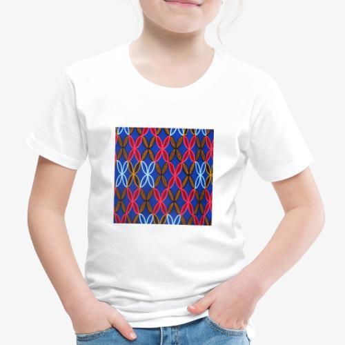 Design motifs bleu rose orange marron - T-shirt Premium Enfant
