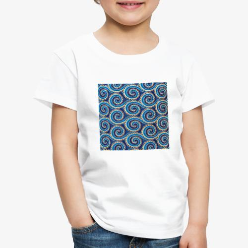 Spirales au motif bleu - T-shirt Premium Enfant