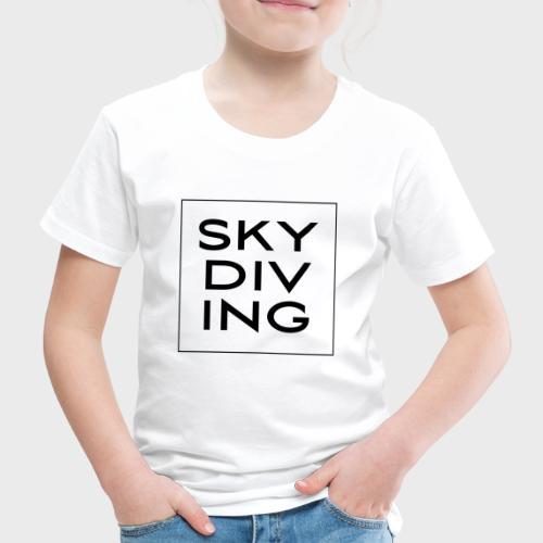 SKY DIV ING Black - Kinder Premium T-Shirt
