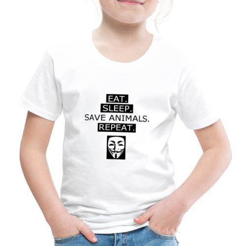 Eat Sleep Save Animals - T-shirt Premium Enfant