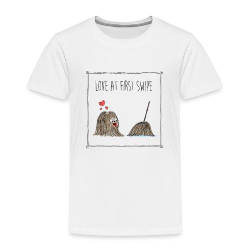 Hund liebt Mop transp - Kinder Premium T-Shirt