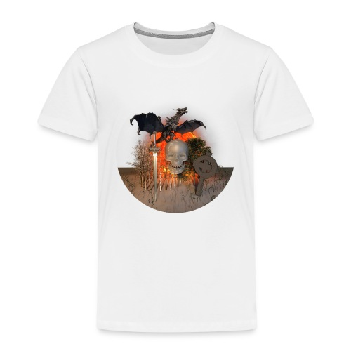 Dragon skull on the sun - T-shirt Premium Enfant