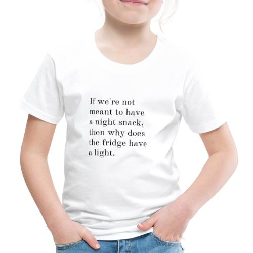 A night snack - Kinderen Premium T-shirt