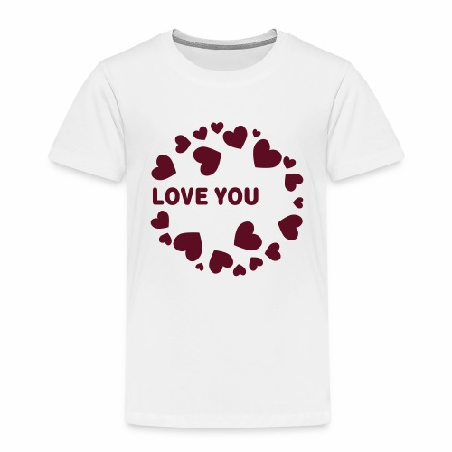 Herzen LOVE YOU - Kinder Premium T-Shirt