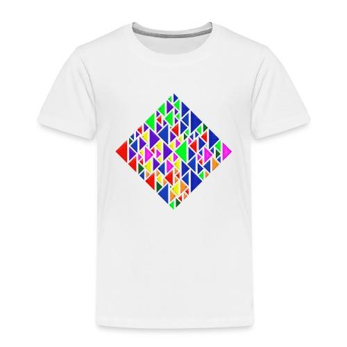 A square school of triangular coloured fish - Kids' Premium T-Shirt