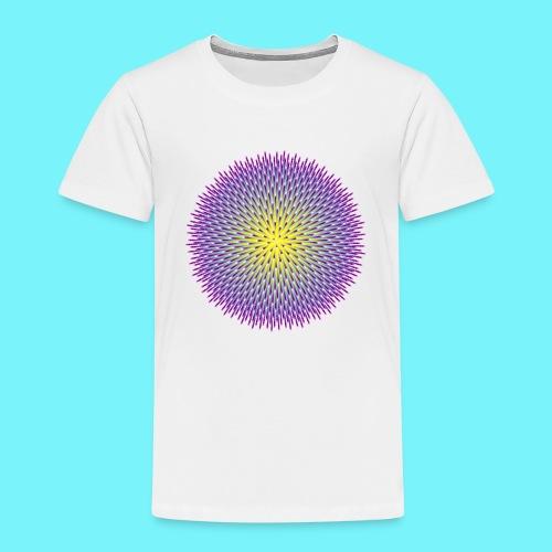 Fibonacci based image with radiating elements - Kids' Premium T-Shirt