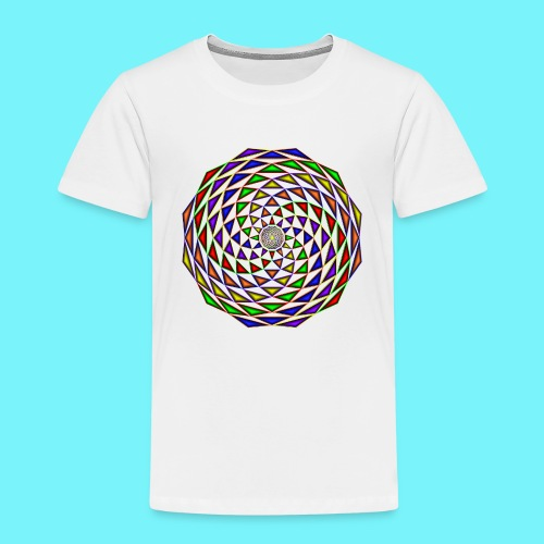 Mandala in rainbow colours - Kids' Premium T-Shirt