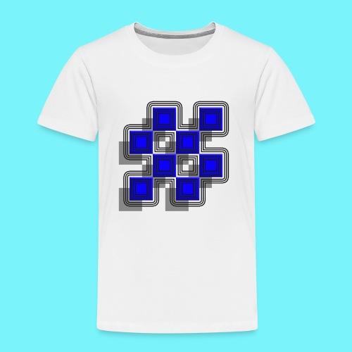 Blue Blocks with shadows and perimeters - Kids' Premium T-Shirt
