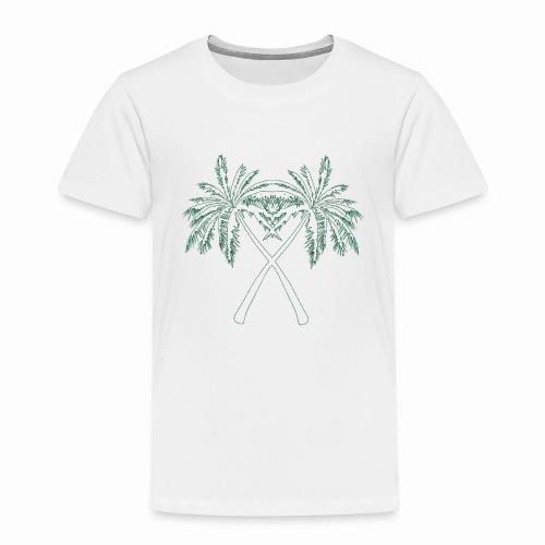 PALMX GREEN CONTOURS - Premium-T-shirt barn
