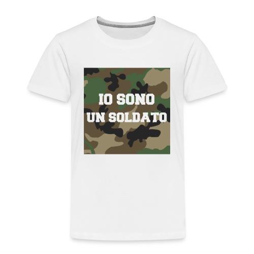IO SONO UN SOLDATO - Maglietta Premium per bambini