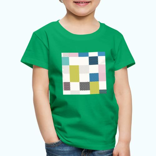 Abstract art squares - Kids' Premium T-Shirt