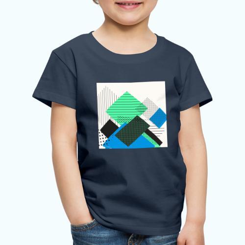 Abstract rectangles pastel - Kids' Premium T-Shirt