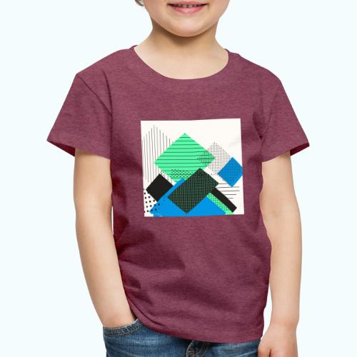 Abstract rectangles pastel - Kids' Premium T-Shirt