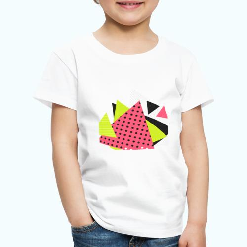 Neon geometry shapes - Kids' Premium T-Shirt