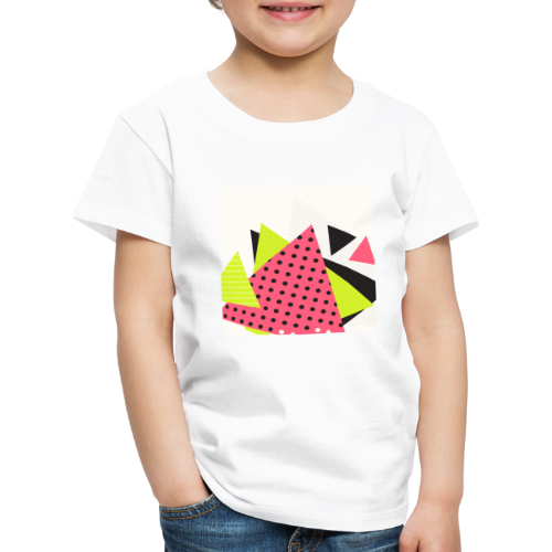 Neon geometry shapes - Kids' Premium T-Shirt