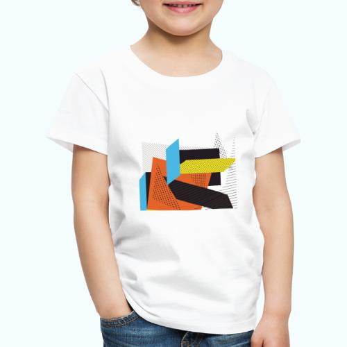 Vintage shapes abstract - Kids' Premium T-Shirt