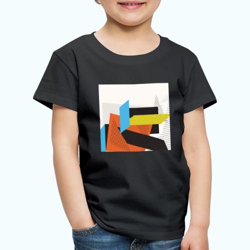 Vintage shapes abstract - Kids' Premium T-Shirt