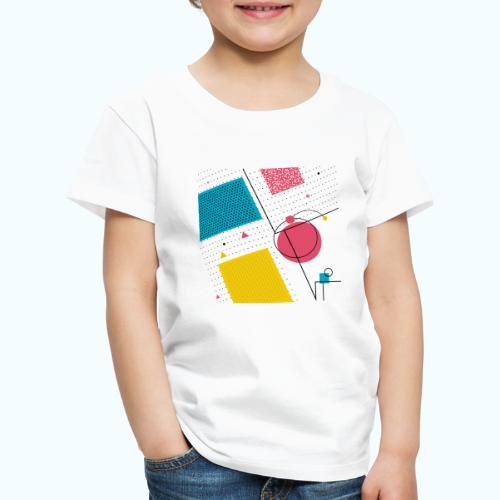 Colors shapes abstract - Kids' Premium T-Shirt