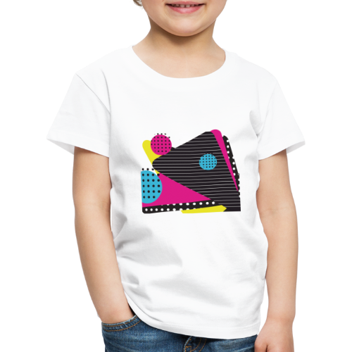 Abstract vintage shapes pink - Kids' Premium T-Shirt