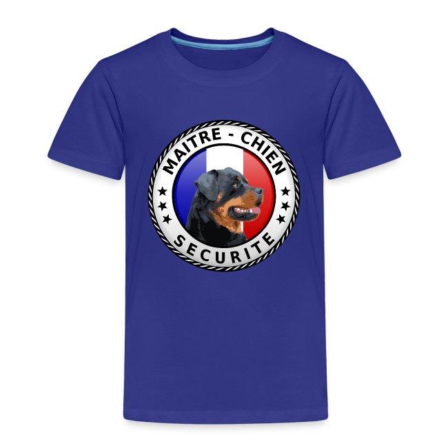Ecusson rond Maitre-Chien rottweiler