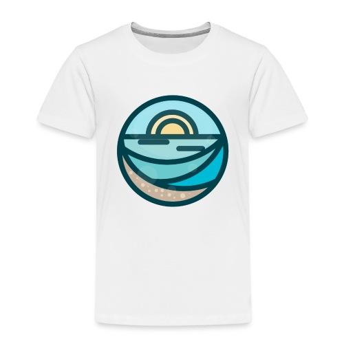 Minimal Sunrise Badge - Maglietta Premium per bambini