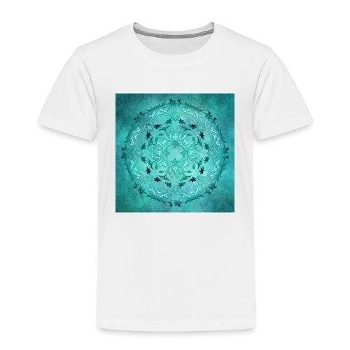 mandala floreale turchese - Maglietta Premium per bambini