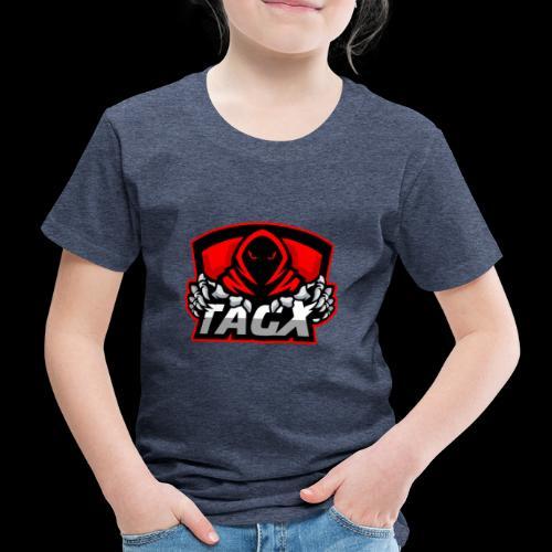 TagX Logo with red borders - Lasten premium t-paita