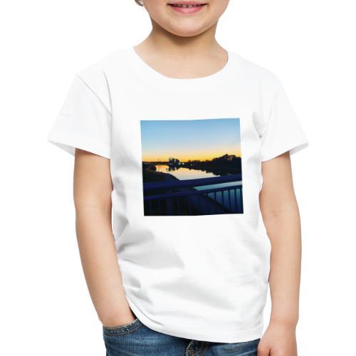 Sonnenuntergang Wasserspiegelung - Kinder Premium T-Shirt
