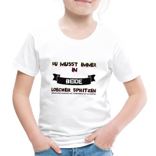 Nasenspray ist sehr wichtig! - Kinder Premium T-Shirt