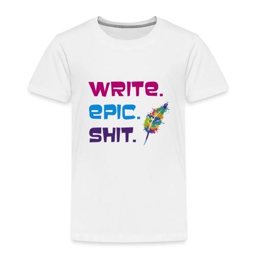 Write.Epic.Shit by www.Schreiben-im-Flow.de - Kinder Premium T-Shirt
