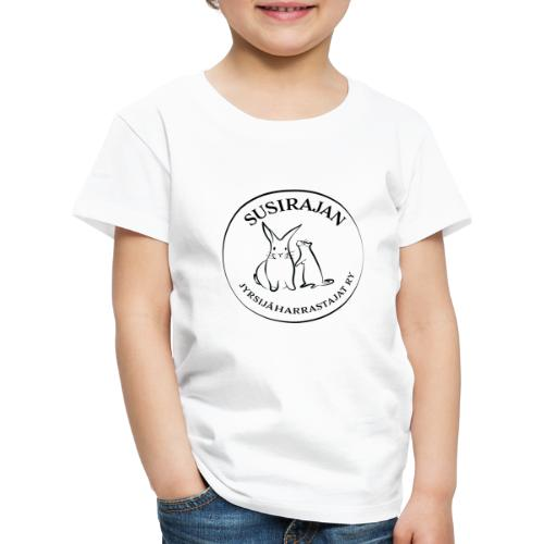 Mustalla logolla - Lasten premium t-paita