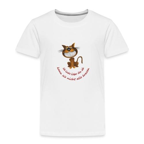Katze die grinst - Kinder Premium T-Shirt