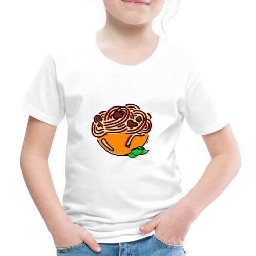 Schüssel Spaghetti - Kinder Premium T-Shirt