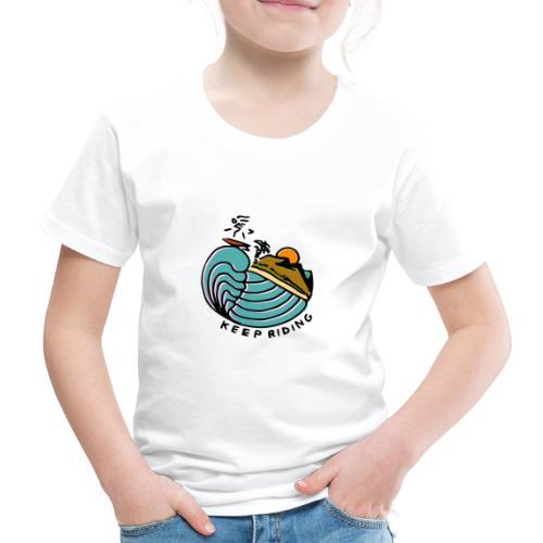 Surfer im Sonnenuntergang - Kinder Premium T-Shirt